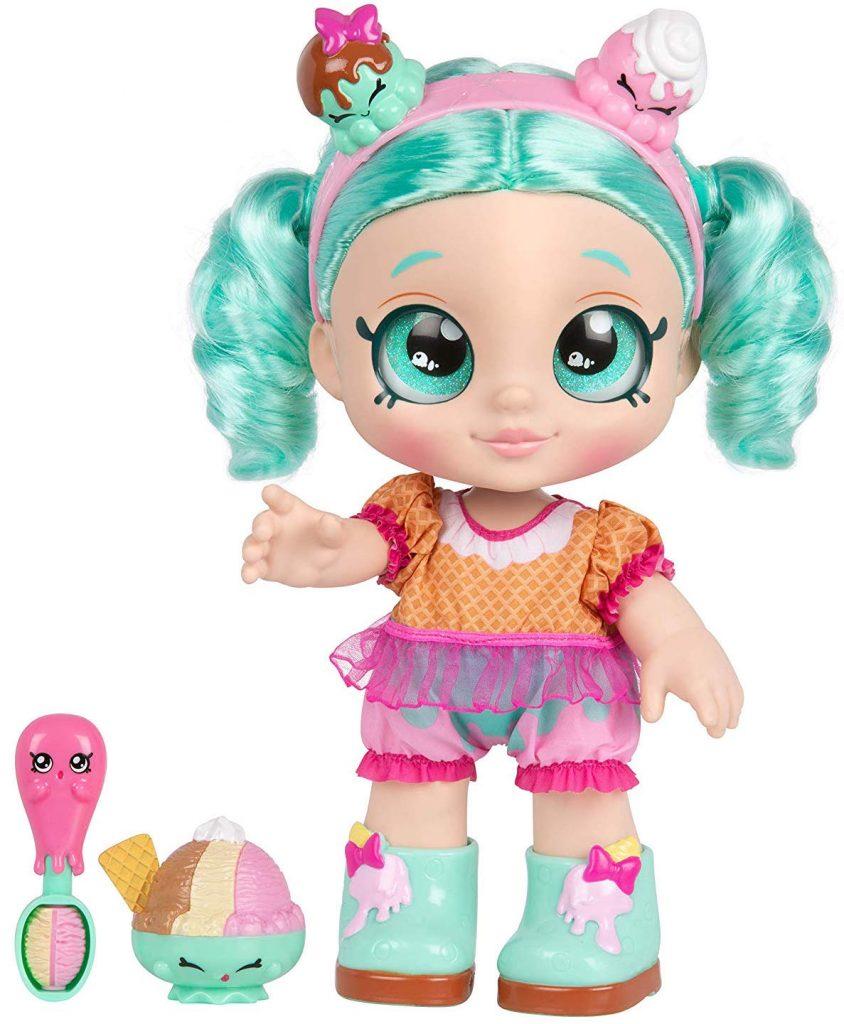 Peppa Mint, kindi kids, muñeca para niña, shopkins, muñecas que te acompañan al preescolar