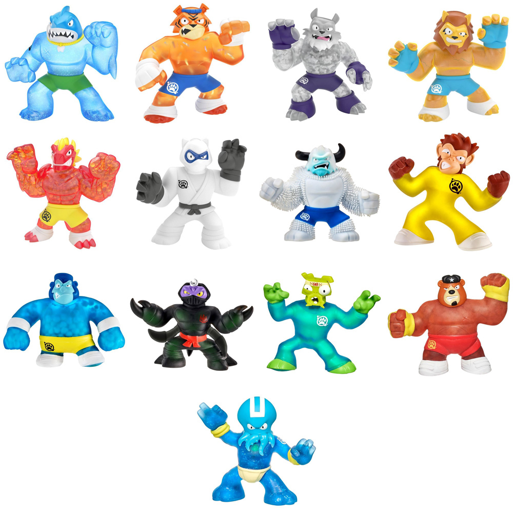 Bandai, Bandai México, figuras elásticas, figuras de colección, caricaturas para niños, héroes de moda, héroes, villanos, blazagon, pantaro, thrash, tygor, wolfpain, sahario, rockjaw, scorpius, viper, wilders, super goo, guardian del goo, supago, elásticos poderes, Goo Jit Zu, héroes de goo jit zu, goo jit zu héroes